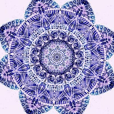Spirituality Digital Art - Mandala  by Sandrine Kespi