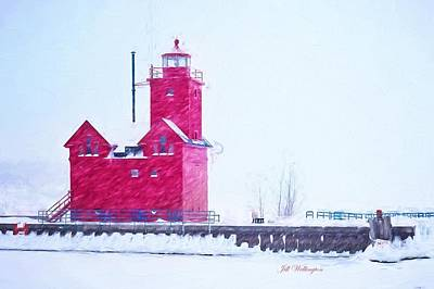 Digital Art - Michigan Winter by Jill Wellington