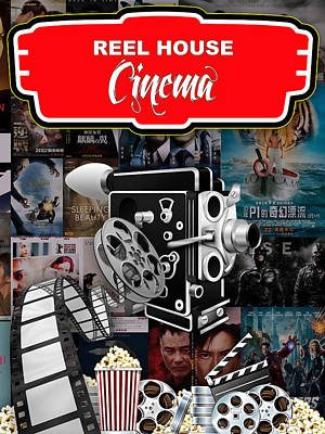 Reel Mixed Media - Movie Room Decor Collection by Marvin Blaine
