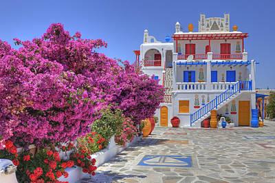Villa Photograph - Mykonos by Joana Kruse