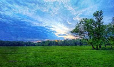 Twilight Painting - Nature Cool Landscape by Margaret J Rocha