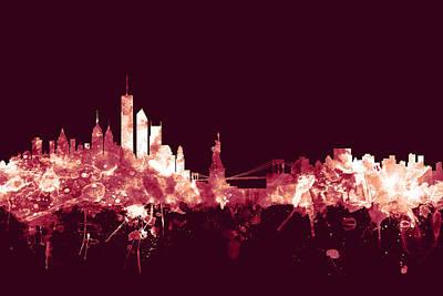 Cities Digital Art - New York Skyline by Michael Tompsett