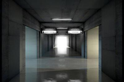 Stadium Digital Art - Sports Stadium Tunnel by Allan Swart