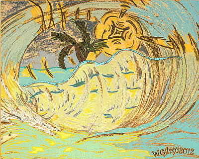 Surf Art Art Print by W Gilroy