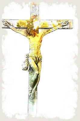 Easter Digital Art - Jesus Christ - Religious Art by Elena Kosvincheva