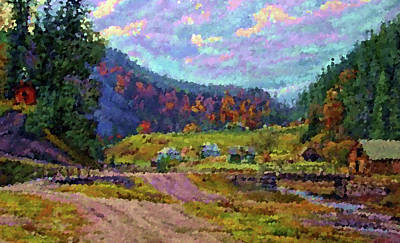 Nature Painting - Nature Art Landscape by Edna Wallen