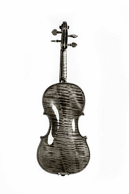 Photograph - 221 .1841 Violin By Jean Baptiste Vuillaume Bw by M K Miller