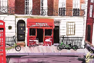 Painting - 221b Baker Street 2.0 by Francois Lamothe