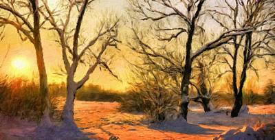 Forest Painting - Nature Art Landscape by Margaret J Rocha