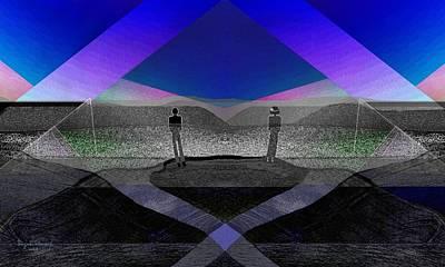 Twilight Zone Digital Art - 228 - Men In Landscape    by Irmgard Schoendorf Welch