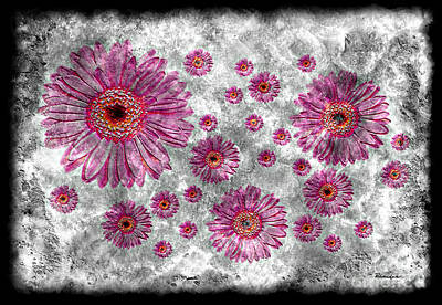 Painting - 22a Abstract Floral Painting Digital Expressionism Art by Ricardos Creations