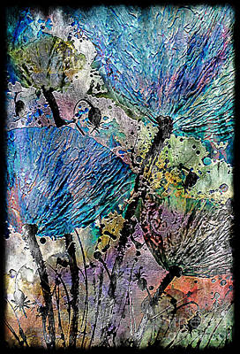 Impasto Oil Digital Art - 22a Abstract Floral Painting Digital Expressionism by Ricardos Creations