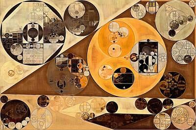 Brown Art Digital Art - Abstract Painting - Zinnwaldite Brown by Vitaliy Gladkiy