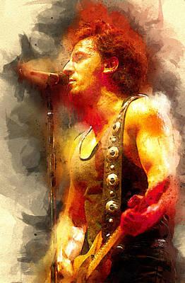 Bruce Springsteen Art Print by Best Actors