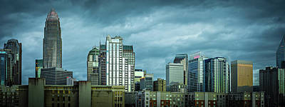 Photograph - Charlotte North Carolina City Skyline by Alex Grichenko