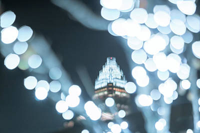 Photograph - Christmas Lights Holiday Decorations Around Charlotte North Caro by Alex Grichenko