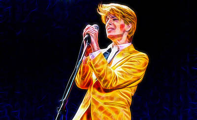 Legend Mixed Media - David Bowie Collection by Marvin Blaine