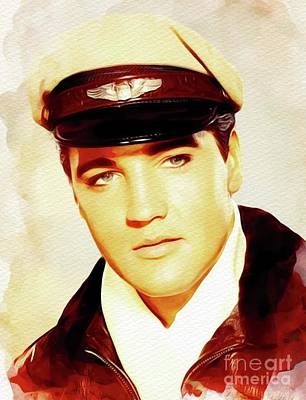 Jazz Royalty-Free and Rights-Managed Images - Elvis Presley, Rock and Roll Legend by John Springfield