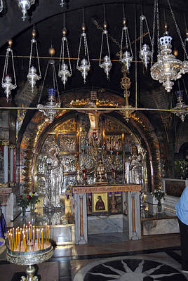 Photograph - Place Of Crucifixion - Golgotha Altar by Isam Awad