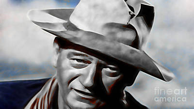 Hollywood Mixed Media - John Wayne Collection by Marvin Blaine