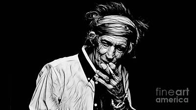Music Mixed Media - Keith Richards Collection by Marvin Blaine