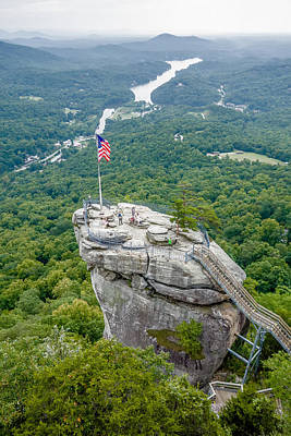 Lake Lure And Chimney Rock Landscapes Art Print by Alex Grichenko