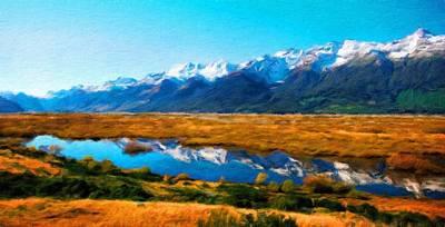 Landscape Painting - Landscape Paintings Nature by Margaret J Rocha