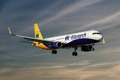 Passenger Plane Photograph - Monarch Airlines Airbus A321-231 by Smart Aviation