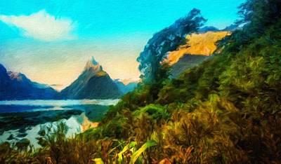 Ocean Painting - Nature Art Landscape Canvas Art Paintings Oil by Margaret J Rocha