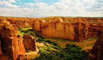 Cloud Painting - Nature Landscape Oil by Margaret J Rocha
