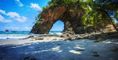Nature Painting - Nature Pictures Of Oil Paintings Landscape by Margaret J Rocha