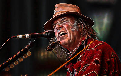 Neil Young Wall Art - Mixed Media - Neil Young Collection by Marvin Blaine