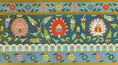 Floral Mixed Media - Colorful Old Flowers Pattern Bohemian Floral Wall Art Prints by Wall Art Prints