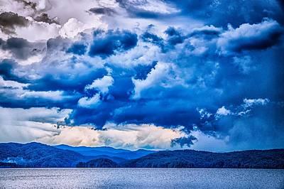 Photograph - Stormy Landscape Over Lake Jocassee South Carolina by Alex Grichenko