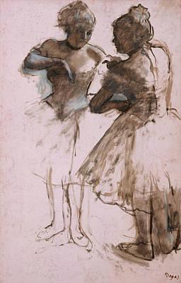 Drawing - Two Dancers by Edgar Degas