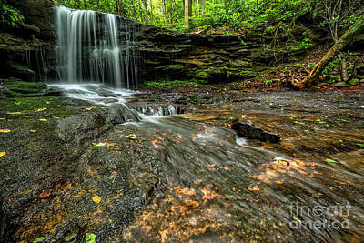 Travel Rights Managed Images - West Virginia Waterfall Royalty-Free Image by Thomas R Fletcher