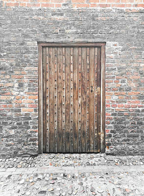 Wooden Door Print by Tom Gowanlock