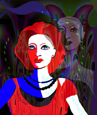 Digital Art - 2308 - Portait 2017 by Irmgard Schoendorf Welch