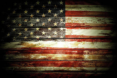 Photograph - American Flag by Les Cunliffe