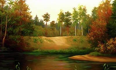 Forest Painting - Nature Landscape Artwork by Edna Wallen