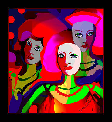 Digital Art - 2314 -  Ladies  Colour Of Strenght 2017 ... by Irmgard Schoendorf Welch