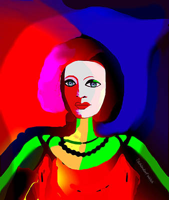 Digital Art - 2316 - Portrait 2017 by Irmgard Schoendorf Welch
