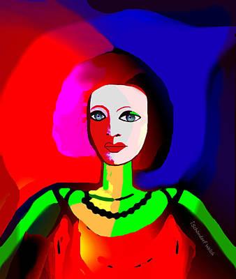 Digital Art - 2316 - Portrait Of A Lady  2017 by Irmgard Schoendorf Welch