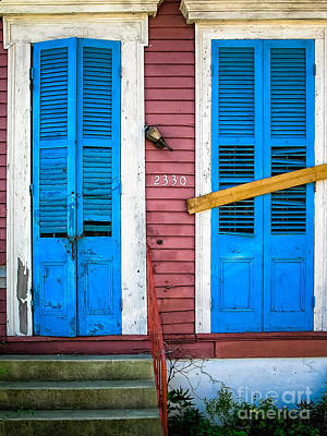 Photograph - 2330 Abandoned Doorway-nola by Kathleen K Parker