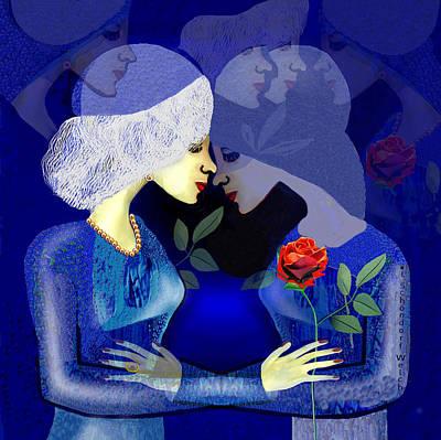 Digital Art - 2336    Friendship Or Love A  by Irmgard Schoendorf Welch