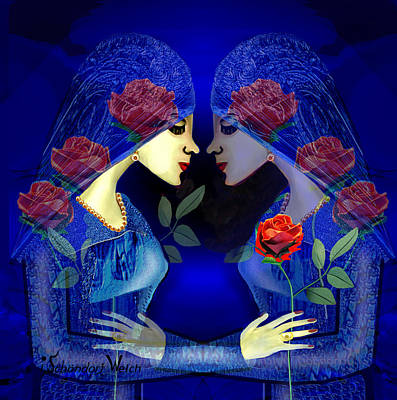 Digital Art - 2336 - Lost In Romance 2017 by Irmgard Schoendorf Welch