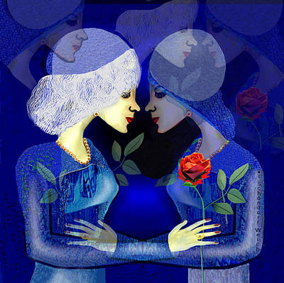 Digital Art - 2336 - Lost In Romance A by Irmgard Schoendorf Welch