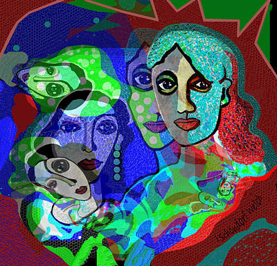 Digital Art - 2338 - Colour Of Life 2017 by Irmgard Schoendorf Welch