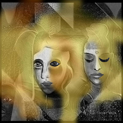 Digital Art - 2342 - Dark Golden Haziness  2017   by Irmgard Schoendorf Welch