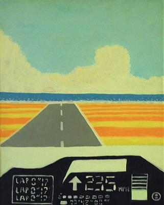 Painting - 235 Mph by Nate Henricks